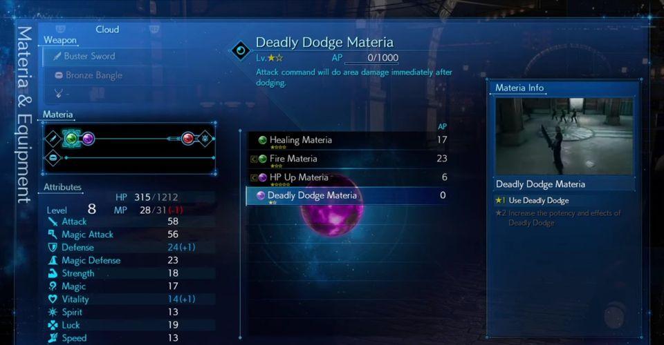 Bagaimana Cara Mendapatkan Deadly Dodge Materia di Final Fantasy 7 Remake